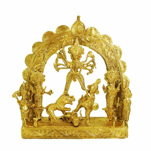 Traditional Beautiful Handcrafted Dokra Durga Murti/Idol For Home Decor
