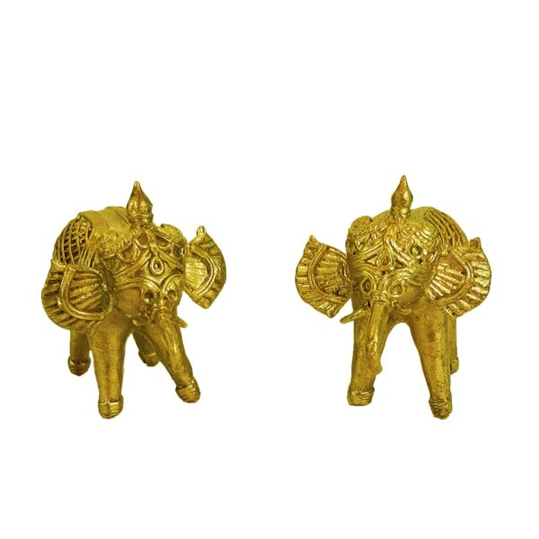 Beautiful Handcrafted Dokra Elephant For Home Décor