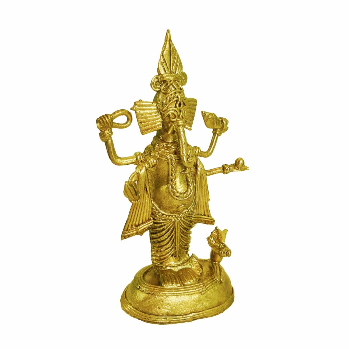 Traditional Beautiful Handcrafted Dokra Ganesh Statue For Home Decor And Office